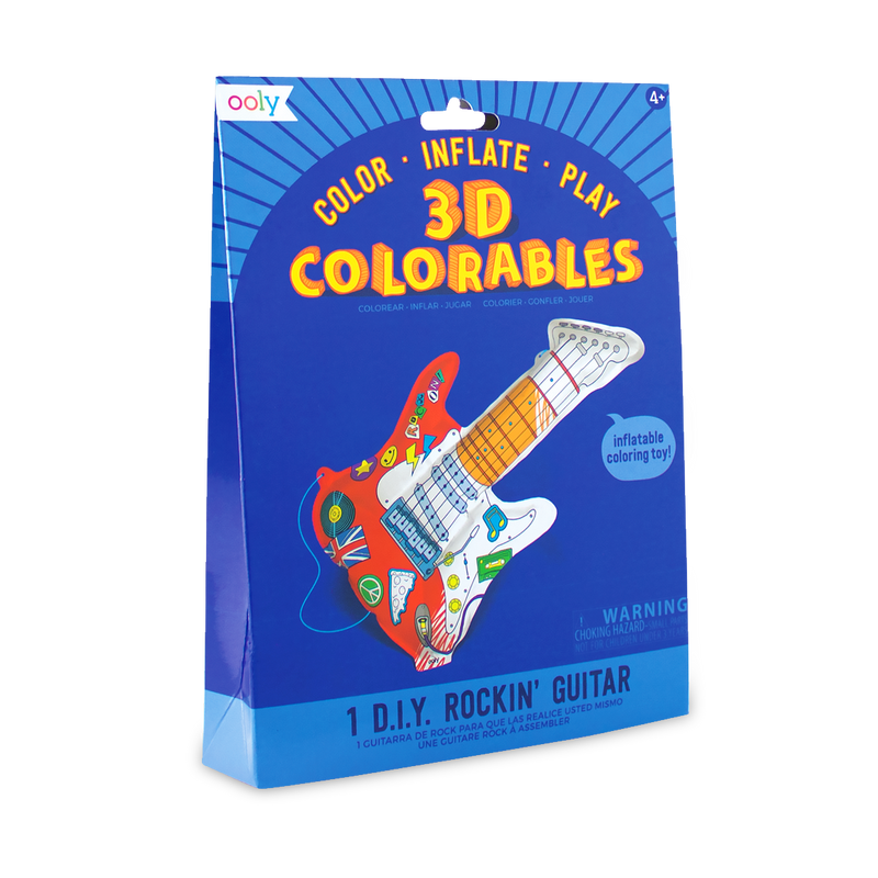 Colorable inflatable toy 3D Colorables Rockin Guitar