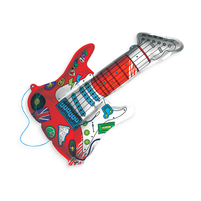 Colored in 3D Colorables Rockin Guitar coloring toy
