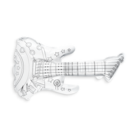 Uncolored 3D Colorables Rockin Guitar coloring toy