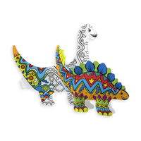 Colored in 3D Colorables Dinosaur Friends inflatable coloring toys
