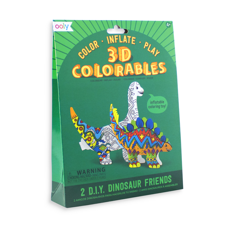 3D Colorables Dinosaur Friends inflatable coloring toys