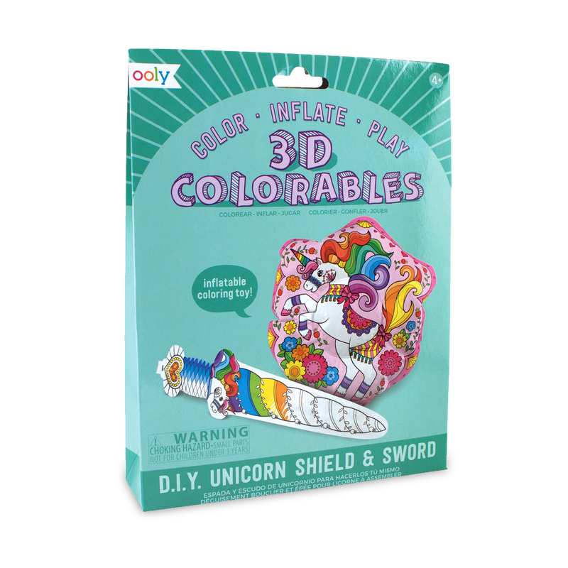3D Colorables Unicorn Sword and Shield set