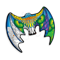 3D Colorables colored in wearable dragon wings