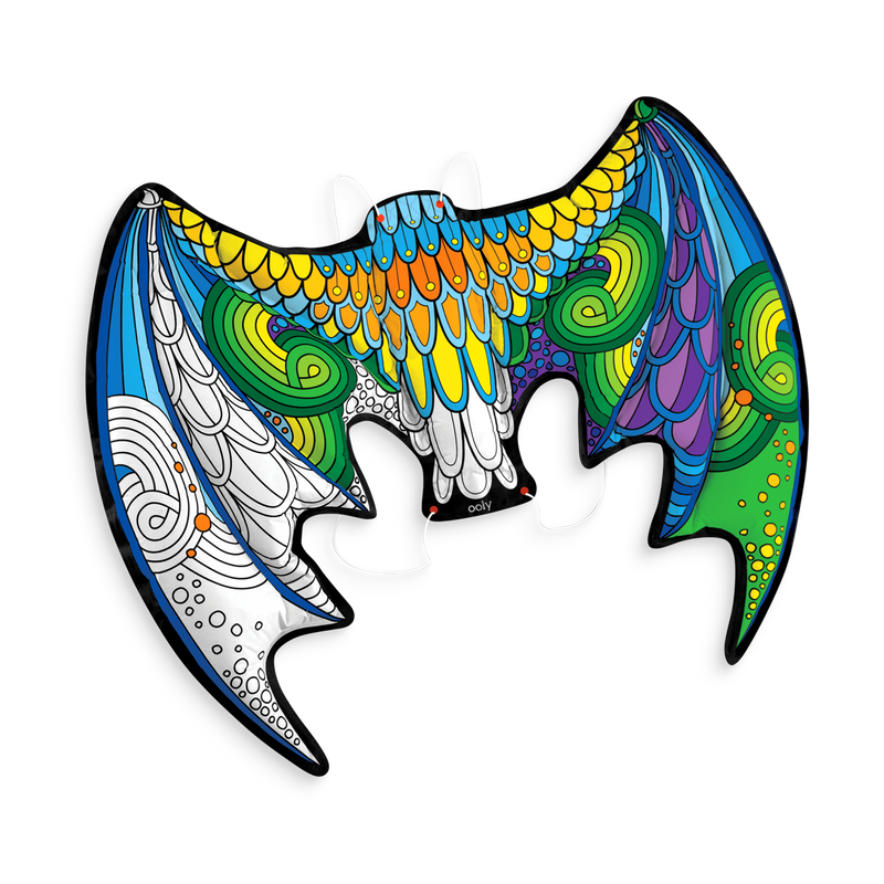 3d colorables dress up dragon wings coloring toys ooly