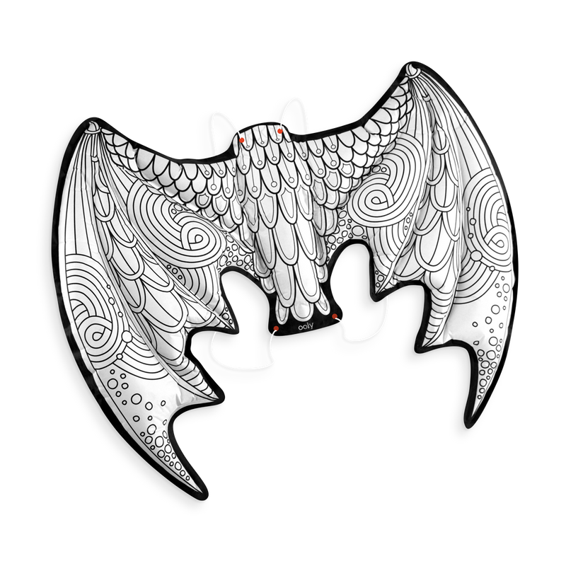 Uncolored 3D Colorables Dress Up Dragon Wings coloring toy