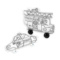 Uncolored 3D Colorables Rescue Vehicles paper coloring toys