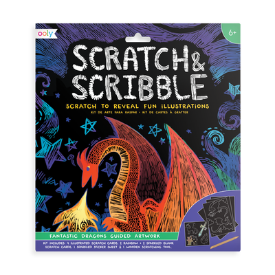 Scratch and Scribble Fantastic Dragons scratch art kit