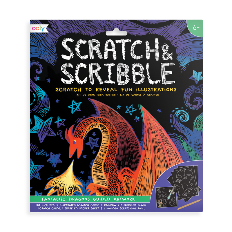 Fantastic Dragons Scratch and Scribble scratch art kit