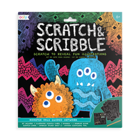OOLY Monster Scratch & Scribble Art Kit