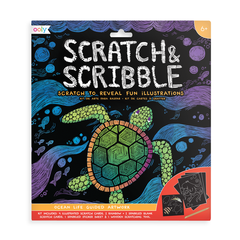 Ocean Life Scratch and Scribble scratch art kit