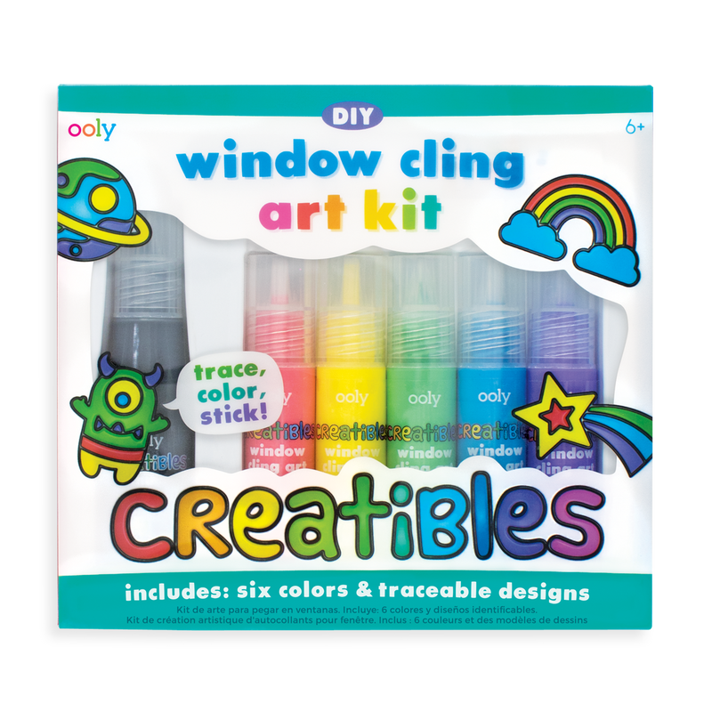 OOLY Window cling Art kit in packaging