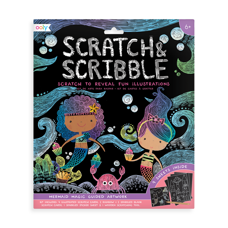 Mermaid Magic Scratch and Scribble Scratch Art Kit