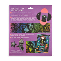 Back of packaging of Mermaid Magic Scratch and Scribble Scratch Art Kit