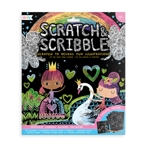 Princess Garden Scratch and Scribble scratch art kit