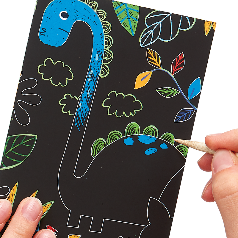 Drawing of Dinosaur Days Scratch and Scribble Mini Scratch Art Kit
