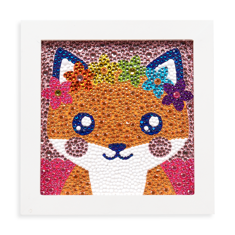 Razzle Dazzle DIY Gem Art Kit - Friendly Fox complete in white frame