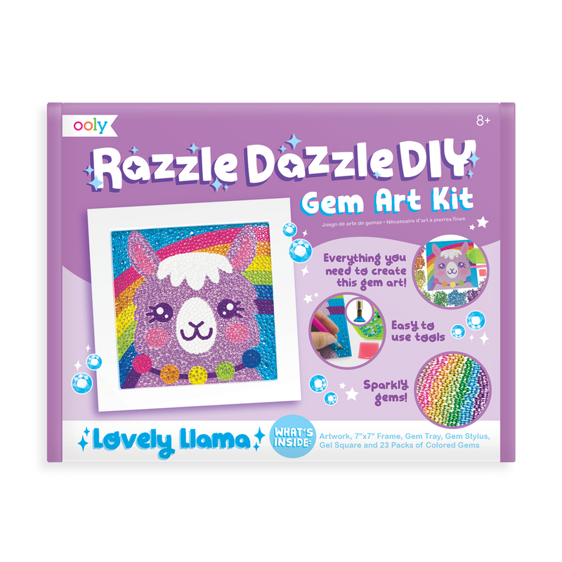 OOLY Razzle Dazzle DIY Gem Art Kit - Lovely Llama in package (front).