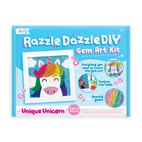 Image of OOLY Razzle Dazzle DIY Gem Art Kit - Unique Unicorns in package (front).
