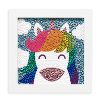 Razzle Dazzle DIY Gem Art Kit - Unique Unicorns artwork in included frame complete.