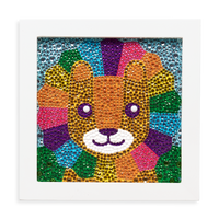 Image of Razzle Dazzle DIY Gem Art Kit - Lil' Lion complete artwork.