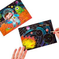 Space Explorer Scratch & Scribble in use