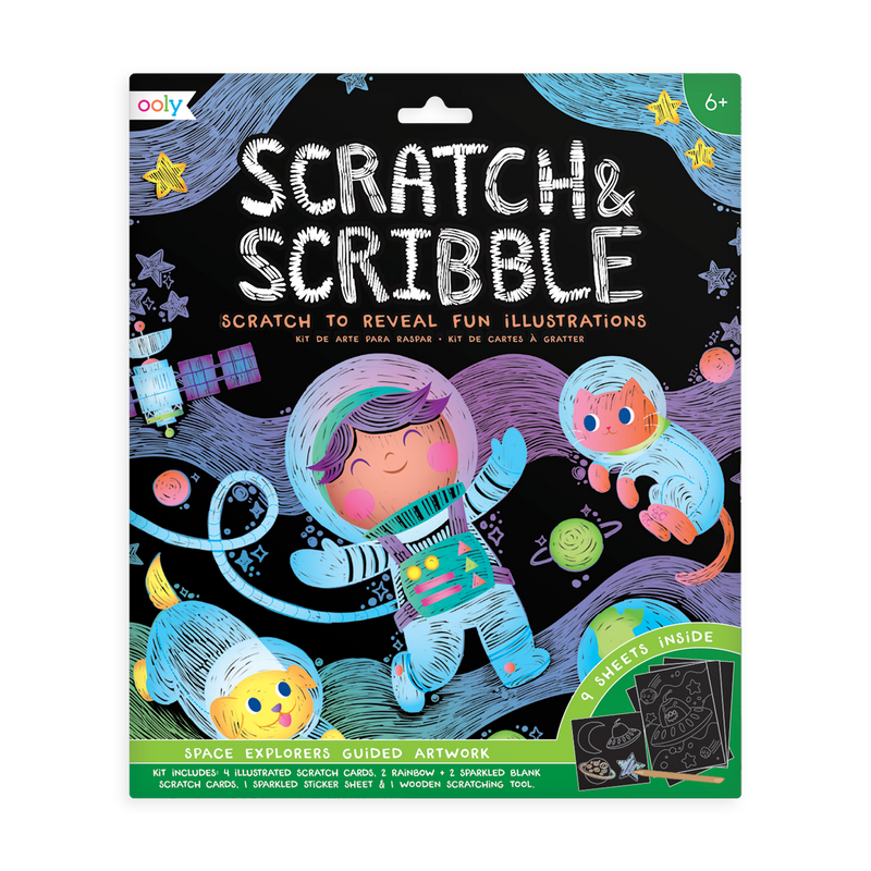Space Explorer Scratch & Scribble Set