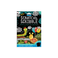 OOLY Bug Buddies Scratch and Scribble Mini Scratch Art Kit in package (front).