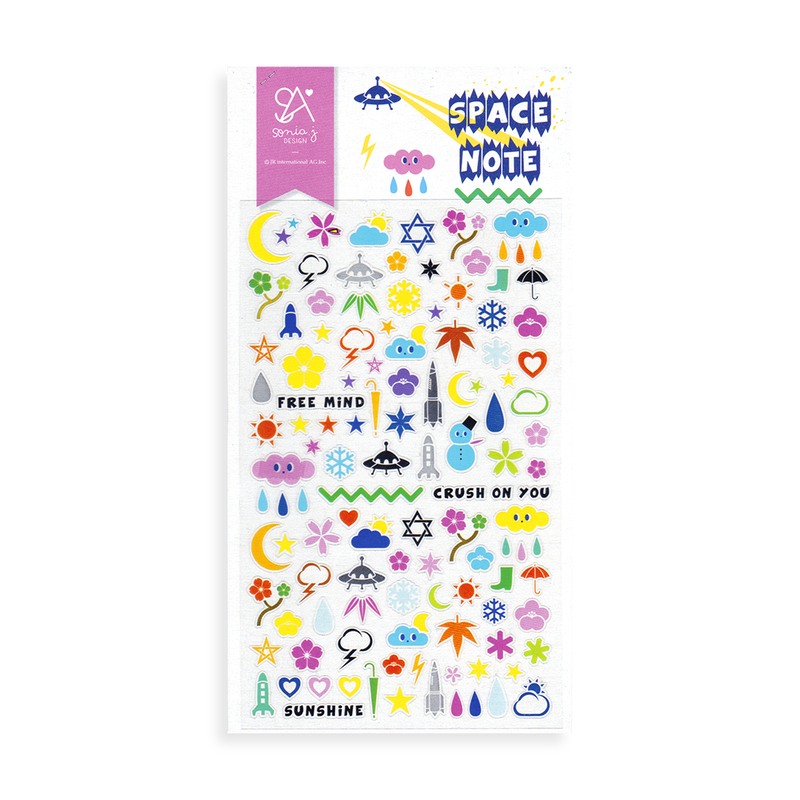 Sonia J Design Stickers - Space Note