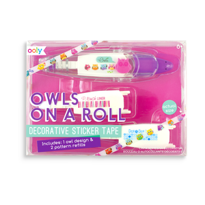 Owls on a Roll Decorative Sticker Tape. Comes with 3 different cartridges