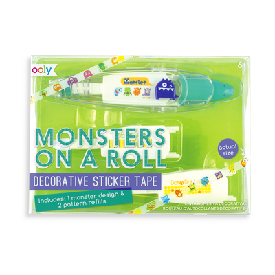 Monsters on a Roll Decorative Sticker Tape with 3 sticker tape cartridges
