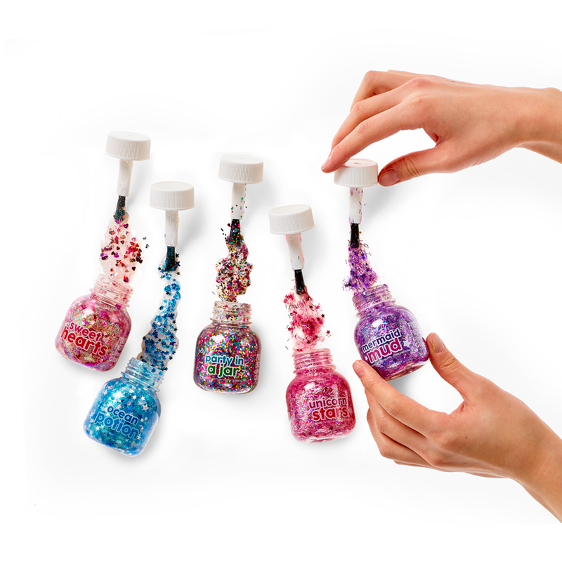 Open bottles with Pixie Paste spilling out