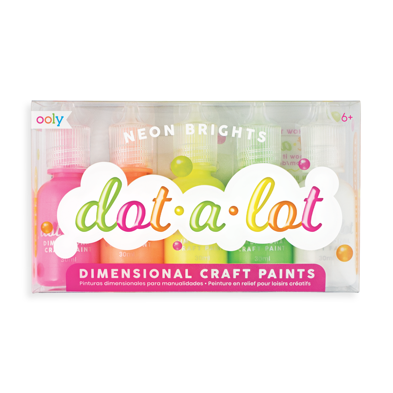 Neon Brights Dot-A-Lot dot painting set - Set of 5