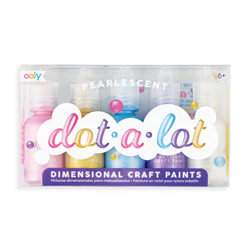 Dot-A-Lot Pearlescent Craft Paint - Set of 5