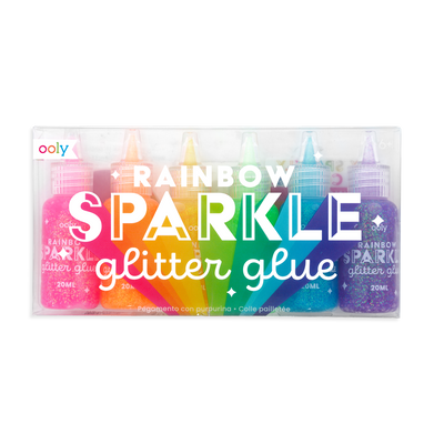 Rainbow Sparkle Glitter Glue set of 6