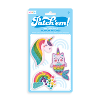 Patch 'em Unicorn Pals Iron On Patches - Set of 3