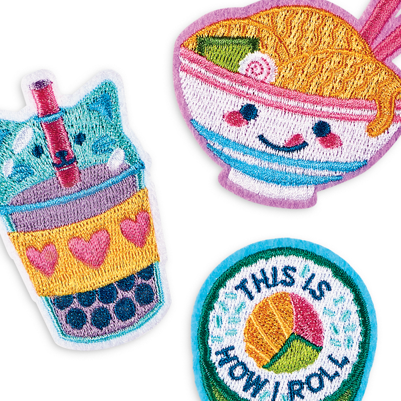 Cute iron on ramen-themed iron on patches