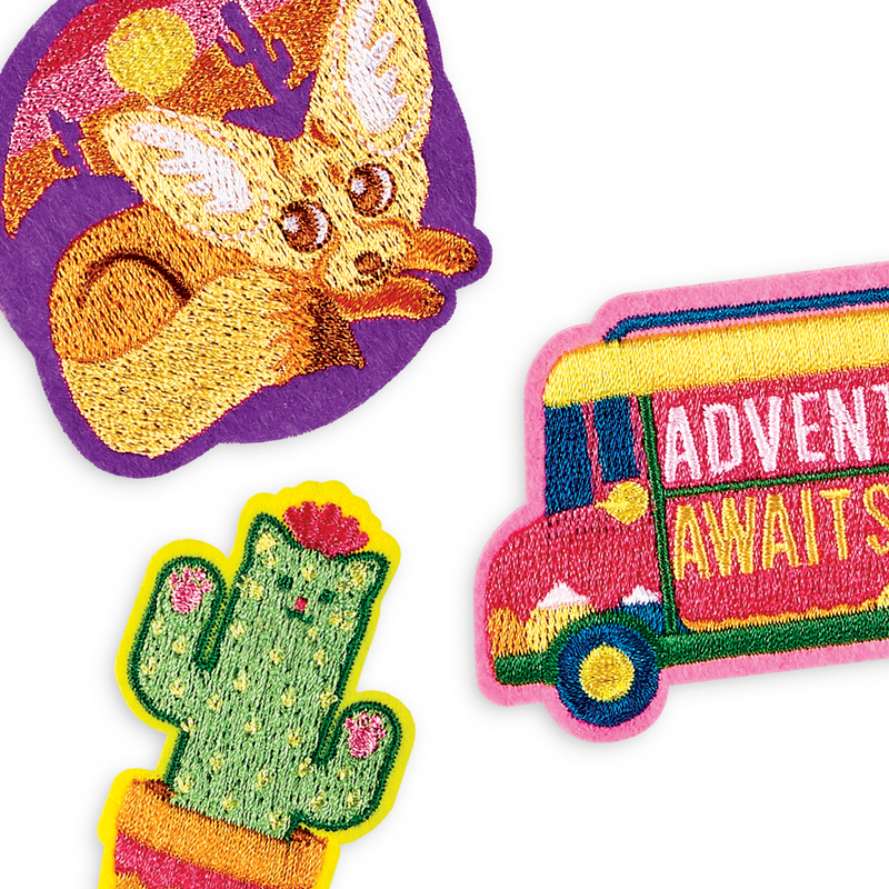 Patch 'em Desert patches are the perfect iron on patches for adventurers big and small