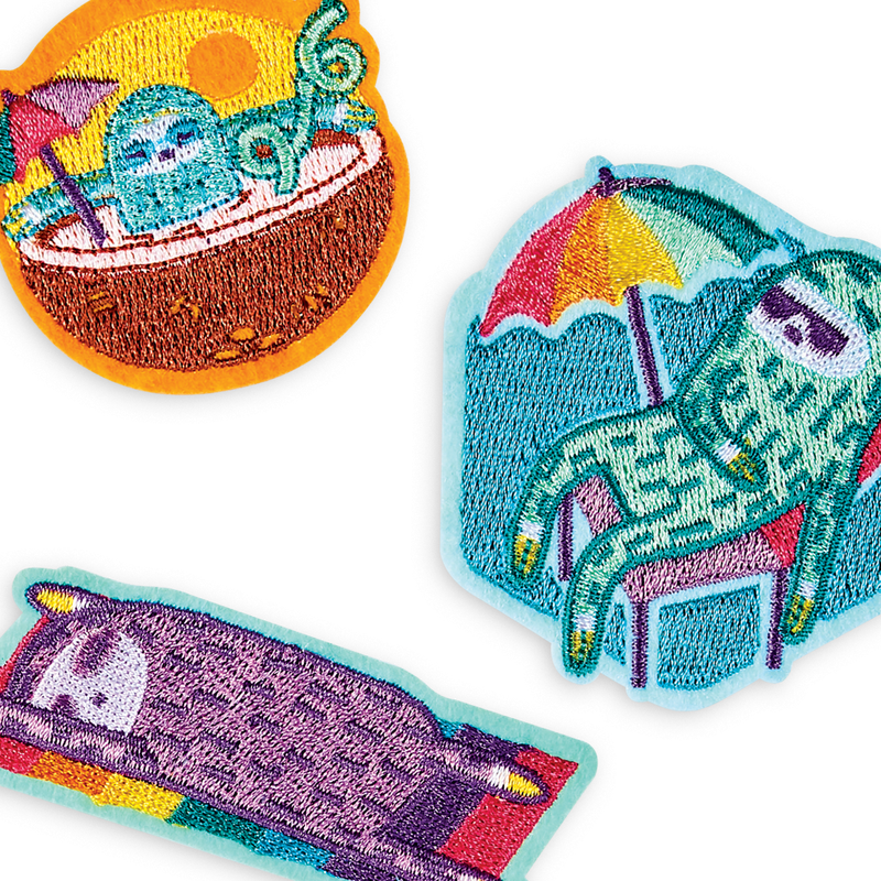 Colorful and Creative Patch 'em Sleepy Sloth Iron On Patches