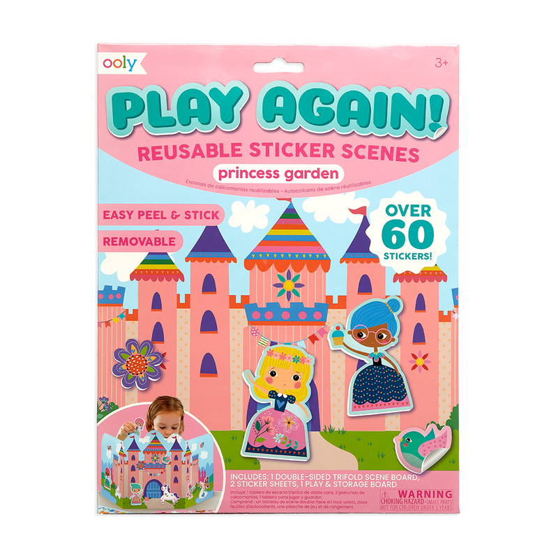 Play Again! Reusable Sticker Scenes - Princess Garden packaging