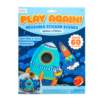 Play Again! Reusable Sticker Scenes - Space Critters packaging