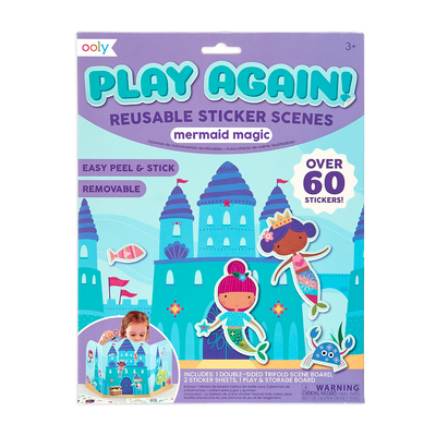 Play Again! Reusable Sticker Scenes - Mermaid Magic package