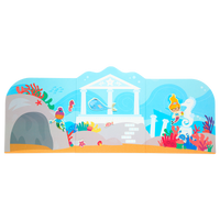 Background scene from Play Again! Reusable Sticker Scenes - Mermaid Magic