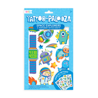 OOLY Tattoo-Palooza Temporary Tattoos - Space Explorers - in package