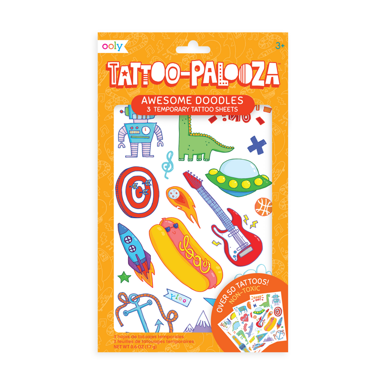 Tattoo-Palooza Temporary Tattoos - Over the Rainbow in packaging