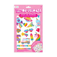 Tattoo-Palooza Temporary Tattoos - Over the Rainbow - in packaging