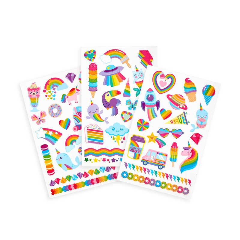 Tattoo-Palooza Temporary Tattoos - Over the Rainbow - 3 Sheets displayed