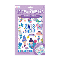 Tattoo-Palooza Temporary Tattoos - Mermaid Magic - in packaging