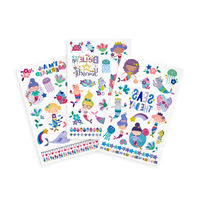 Tattoo-Palooza Temporary Tattoos - Mermaid Magic - 3 Sheets displayed
