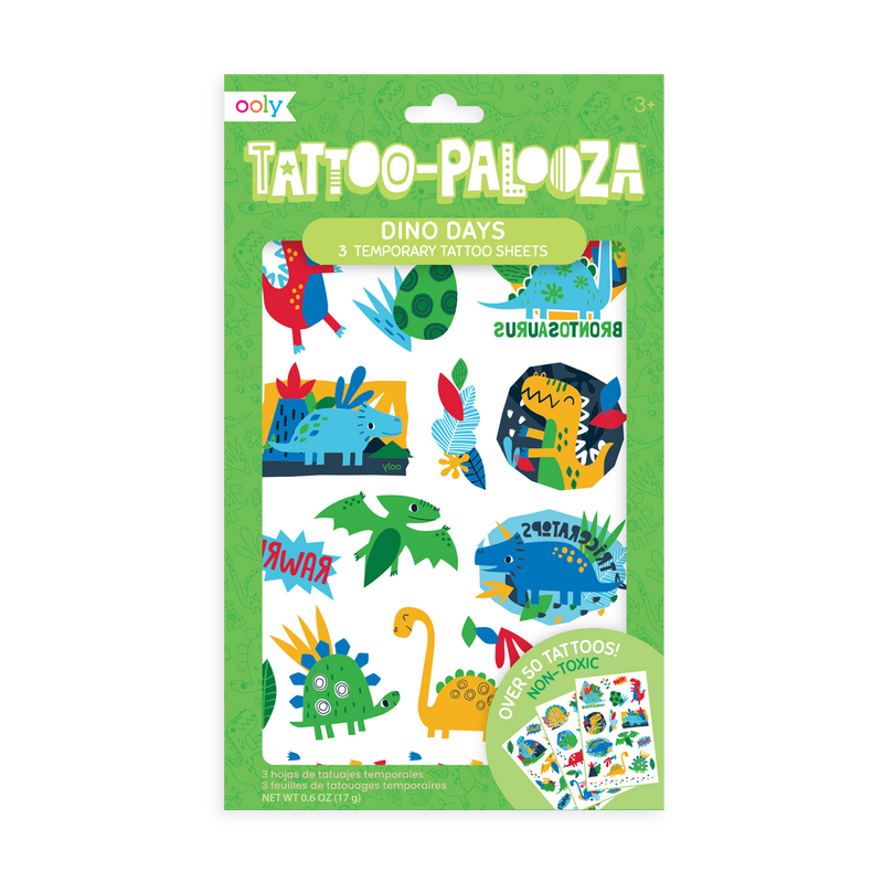Tattoo-Palooza Temporary Tattoos - Funtastic Friends in product packaging