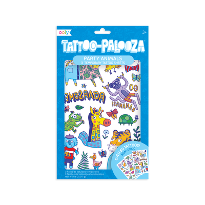 Tattoo-Palooza Temporary Tattoos - Party Animal
